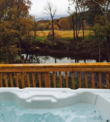 Mother Goose Hot tub view