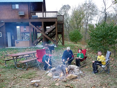 Bonfire by the Shenandoah River near Luray VA